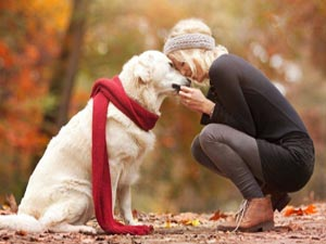 Woman love dog